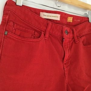 Anthropologie Pilcro red jeans STET fit